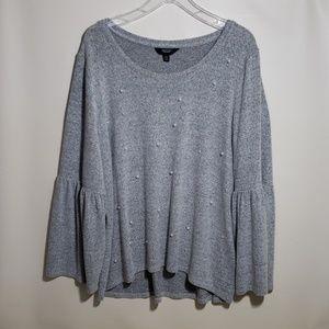 Simply Vera light gray sweater bell sleeves XXL